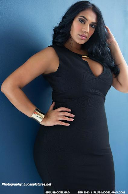 plus size model Tinder Badhesha