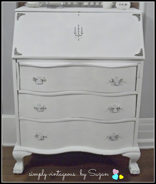 Painted Secretary - Annie Sloan Pure White