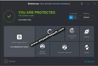 Bitdefender Total Security 2016 Setup + Serial keys is Free
