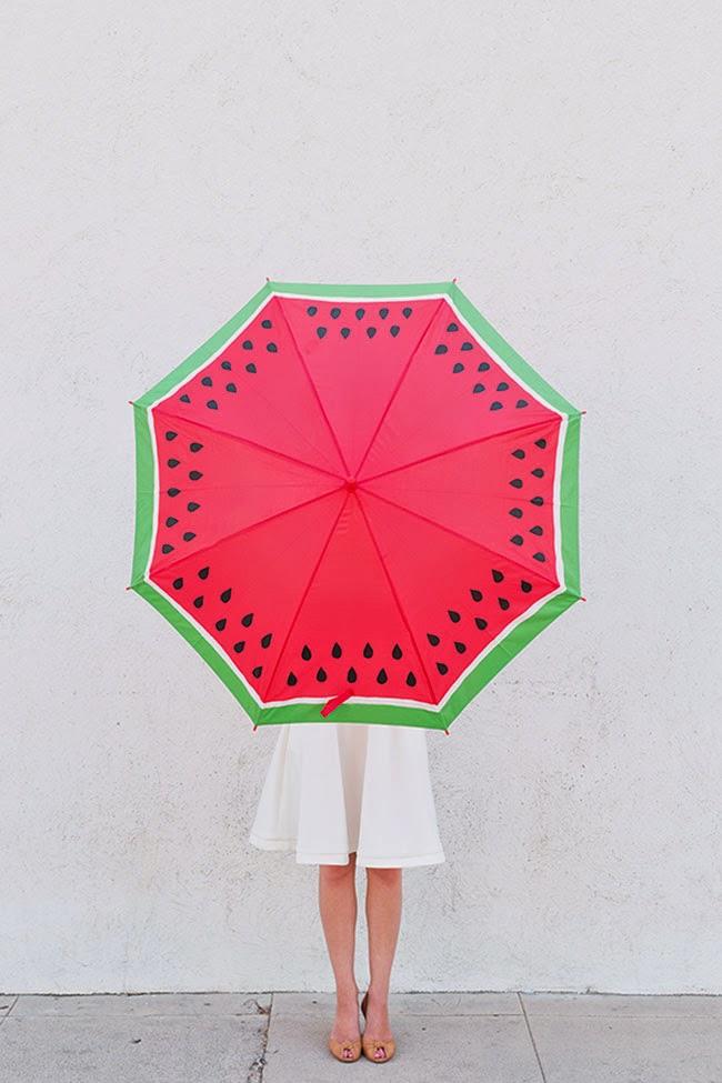 Paraguas rodaja de sandía