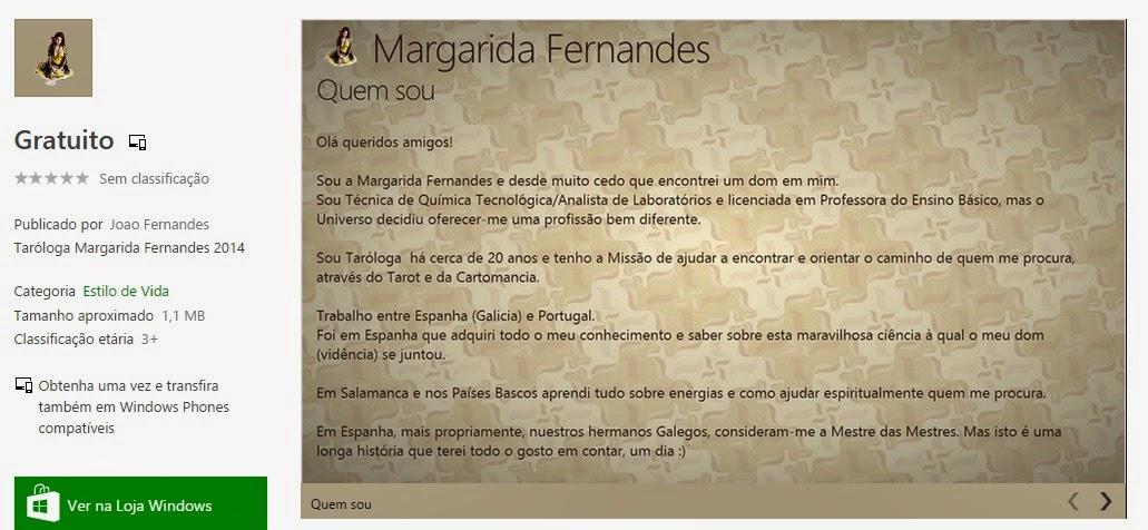 Descarregue a APP Oficial da Taróloga Margarida Fernandes