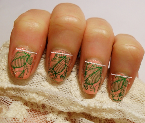 Guest Post Beauty Shades Nail Design Leaves And Eye Makeup Look