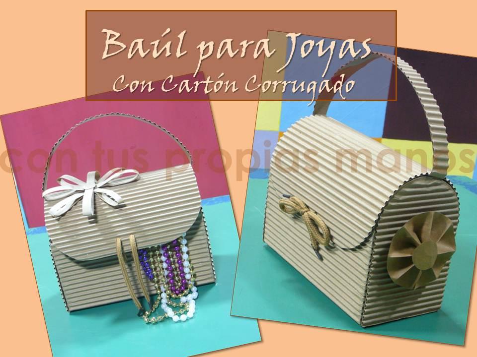 Con tus propias manos como hacer un baul para joyas con carton corrugado - Como hacer un baul para guardar juguetes ...