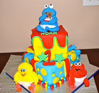 The Sweet Chicks NYC: Sesame Street First Birthday Cake