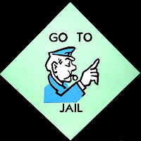 Go to Jail Square from the Monopoly Game
