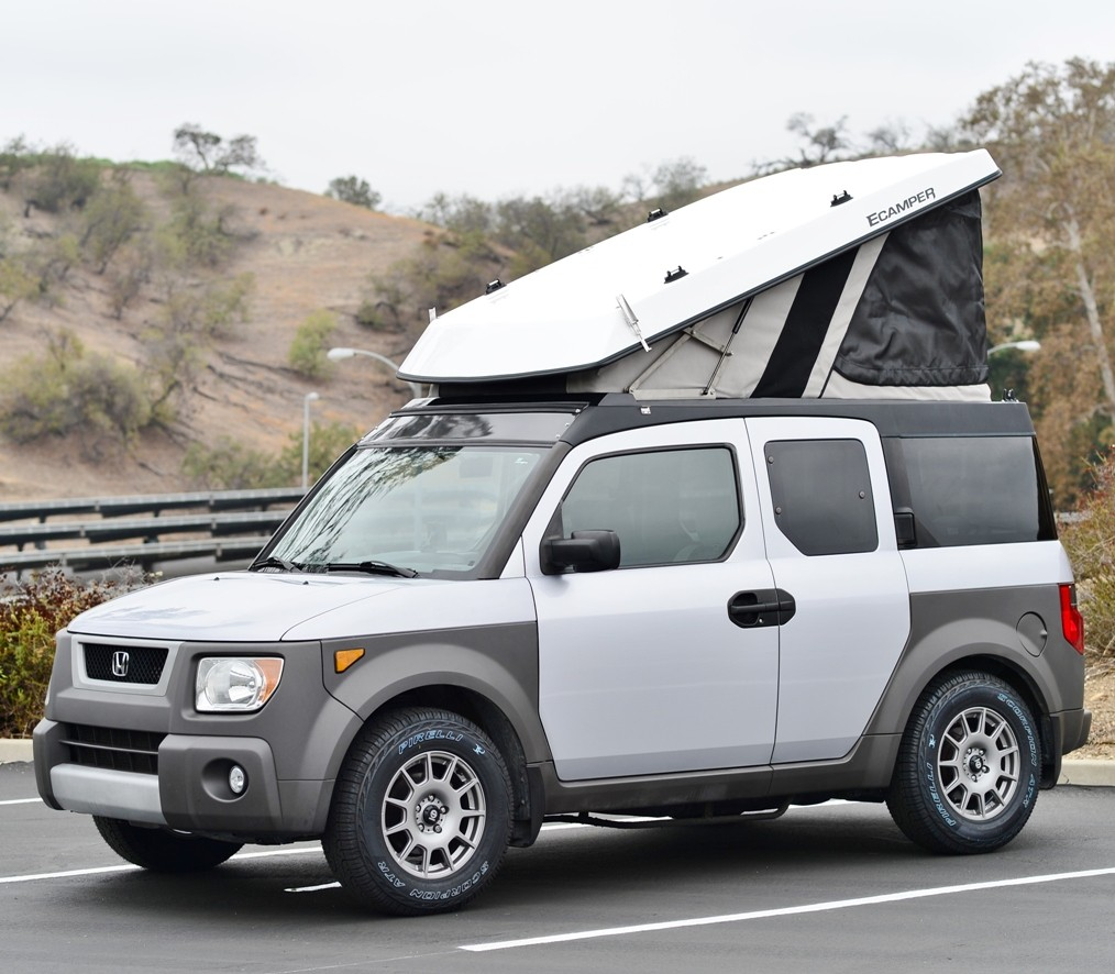 As i mentioned the ursa major ecamper is probably the best compact camper you could get you actually access the pop up part via the car s existing rear
