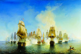 Pirate Ships Oil Painting HD Wallpaper