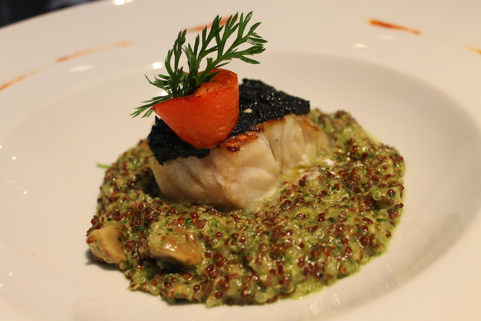 Chilean quinoa and eel