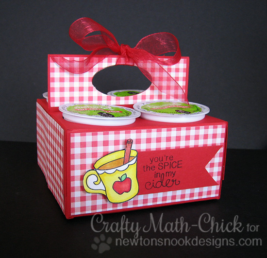 Keurig K-cup holder by Crafty Math Chick | Apple Delights Stamp set by Newton's Nook Designs