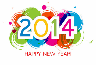 Happy New Year with colors