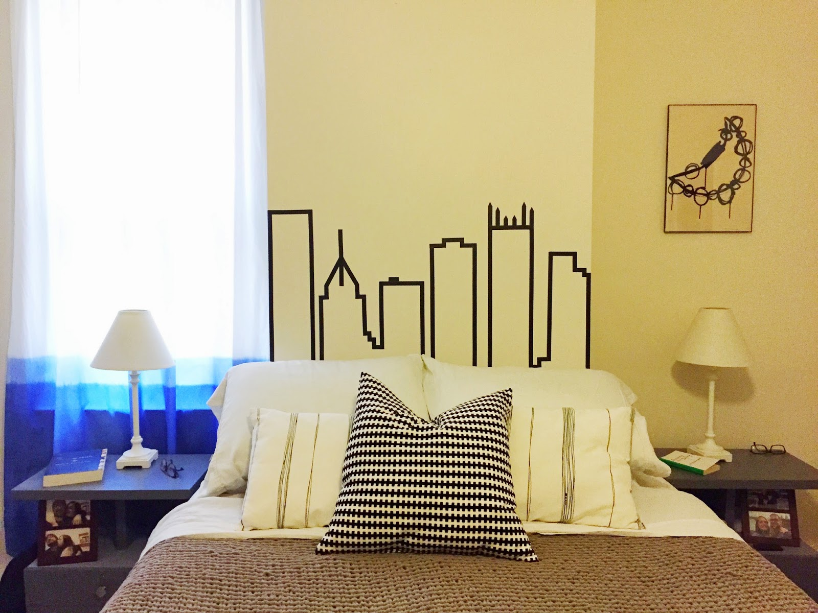 Washi Tape Headboard - The Surznick Common Room