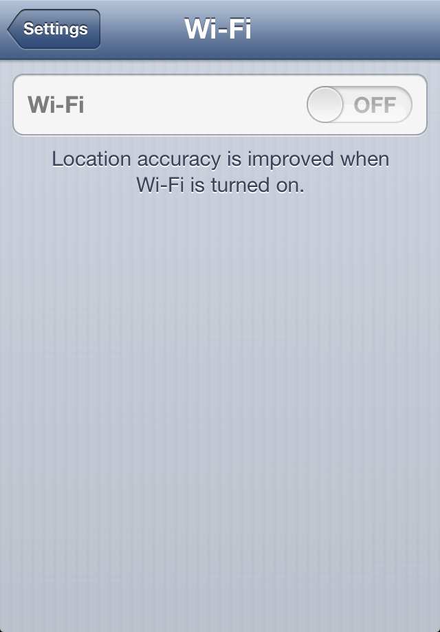 iphone wifi setting dimmed