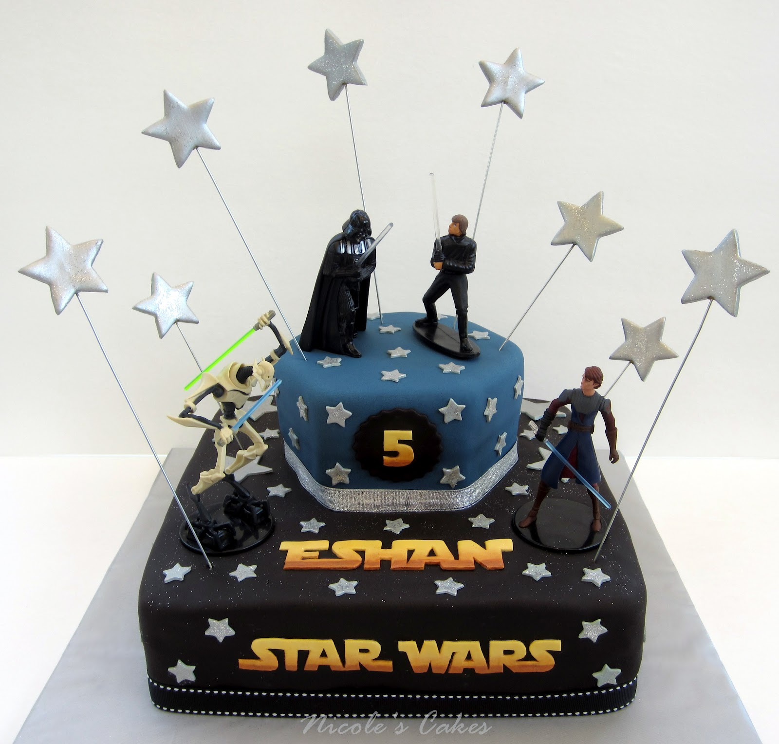 On Birthday Cakes:  May the force be with you ... A Star ...
