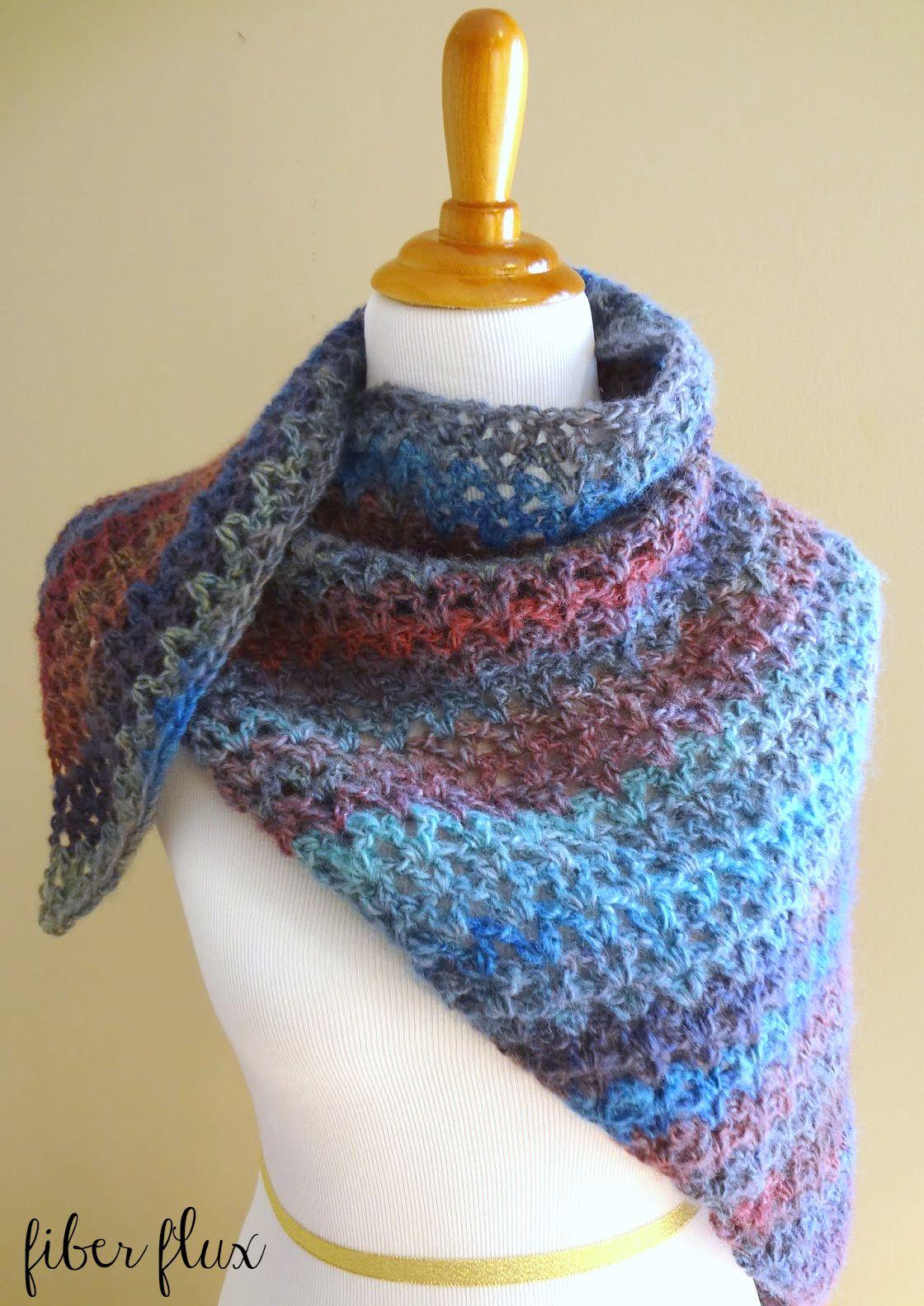 Fiber FluxFree Crochet Pattern Kristen Shawl!