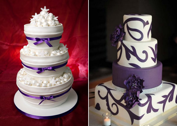 Purple Wedding Cakes 2014