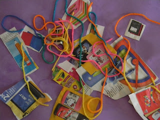 Back to School Crafts, photo, Follow the Line to School, Collage, back to school activities