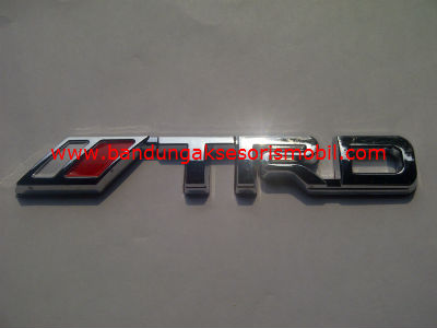 Emblem Car Logo TRD Full Chrome