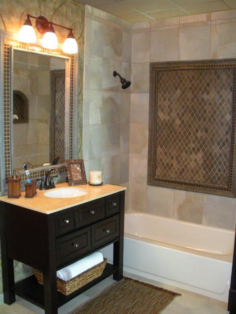 Diseno De Baño Pequeno Con Tina:diseño de baño pequeño baño para visitas con pared de ducha de