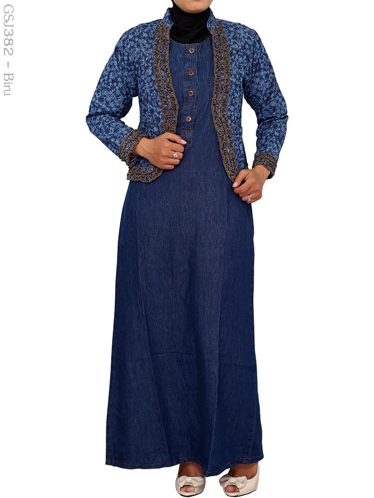 Gamis Jeans Gsj382 Busana Muslim Murah Terbaru Toko