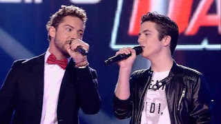 David Bisbal y Javier cantan Angels. Final La Voz Kids 2015