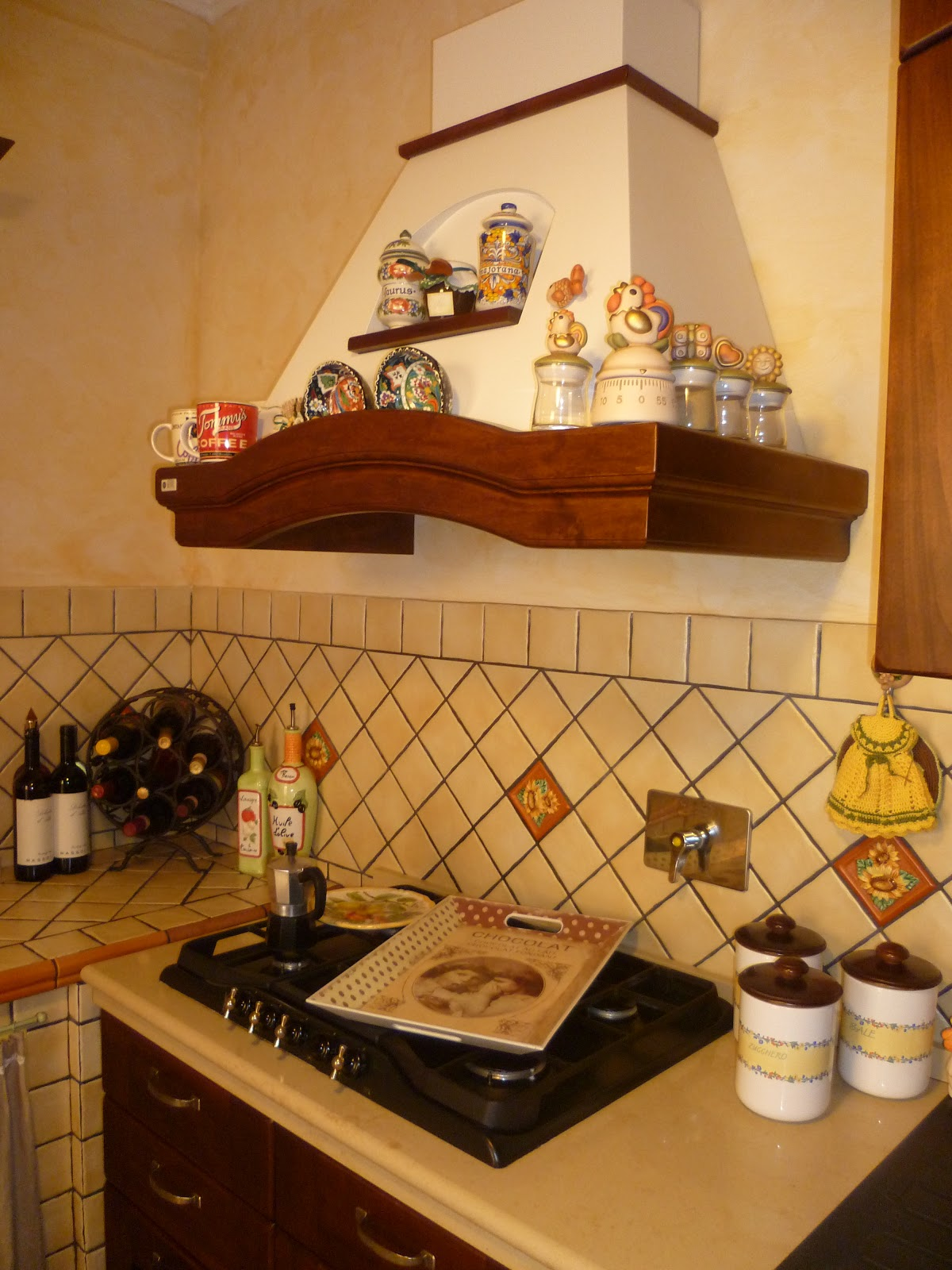 100 love accessori da cucina country - Tendine da cucina ...