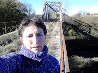 Puente hierro del tren en Vadocondes