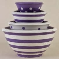 striped dishware