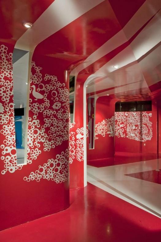 Coca cola training facility interior espacio c in mixcoac for Espacio interior