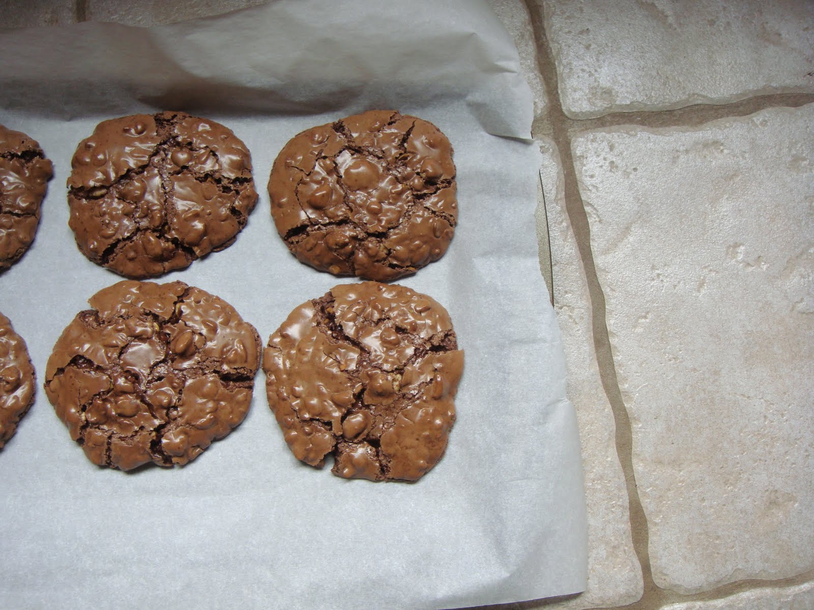 The Empty Lunch Pail: Chocolate Puddle Cookies