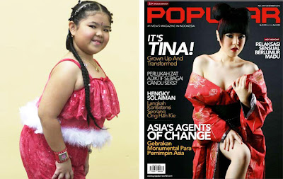 Foto Seksi Tina Toon di Majalah Popular