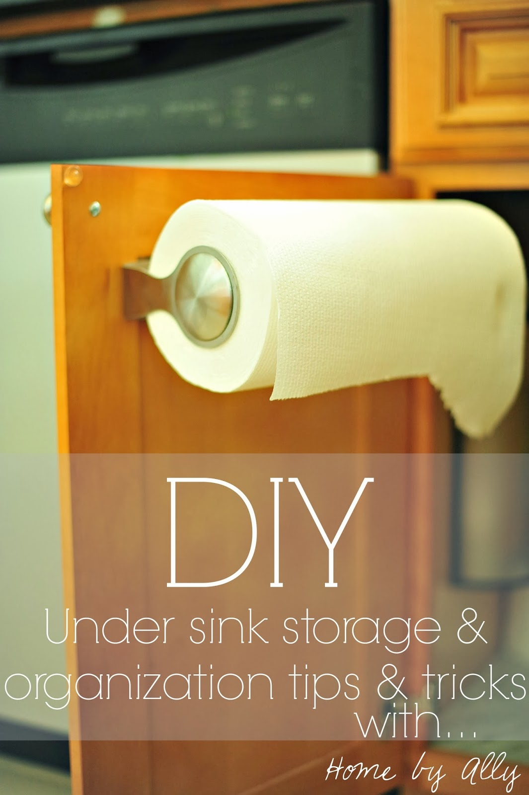 DIY: Under Sink Tile And How To Keep It Clean U0026 Organized!