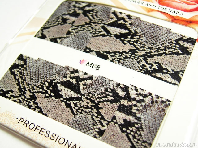 Born Pretty Store Snakeskin Pattern Water Nail Decals