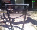 One of the custom logo bike racks installed last year at Hamilton&#39;s Tavern in South Park.