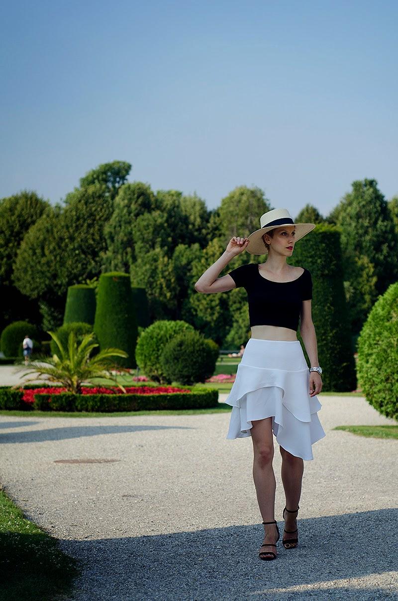 asymmetric skirt h&m trend panama hat beeswonderland