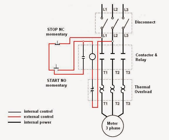 electrical engineering world  wiring a motor control circuit
