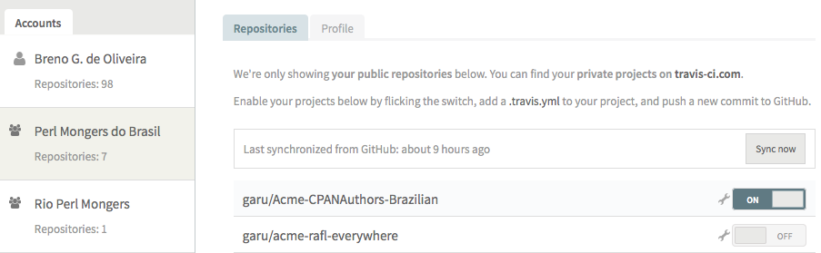how to add travis to your github project