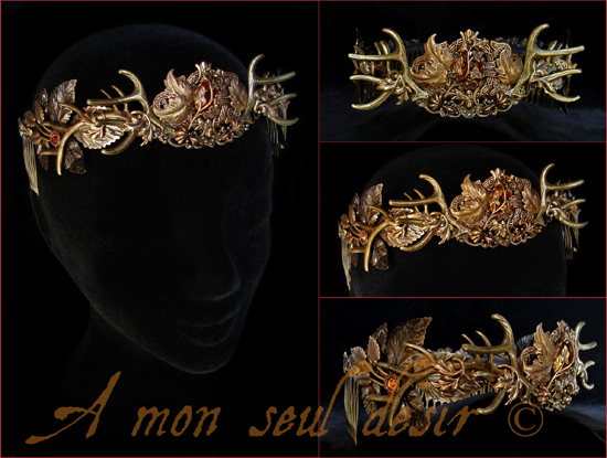 Couronne Bois de Cerf Baratheon Bronze Crown Deer Antlers