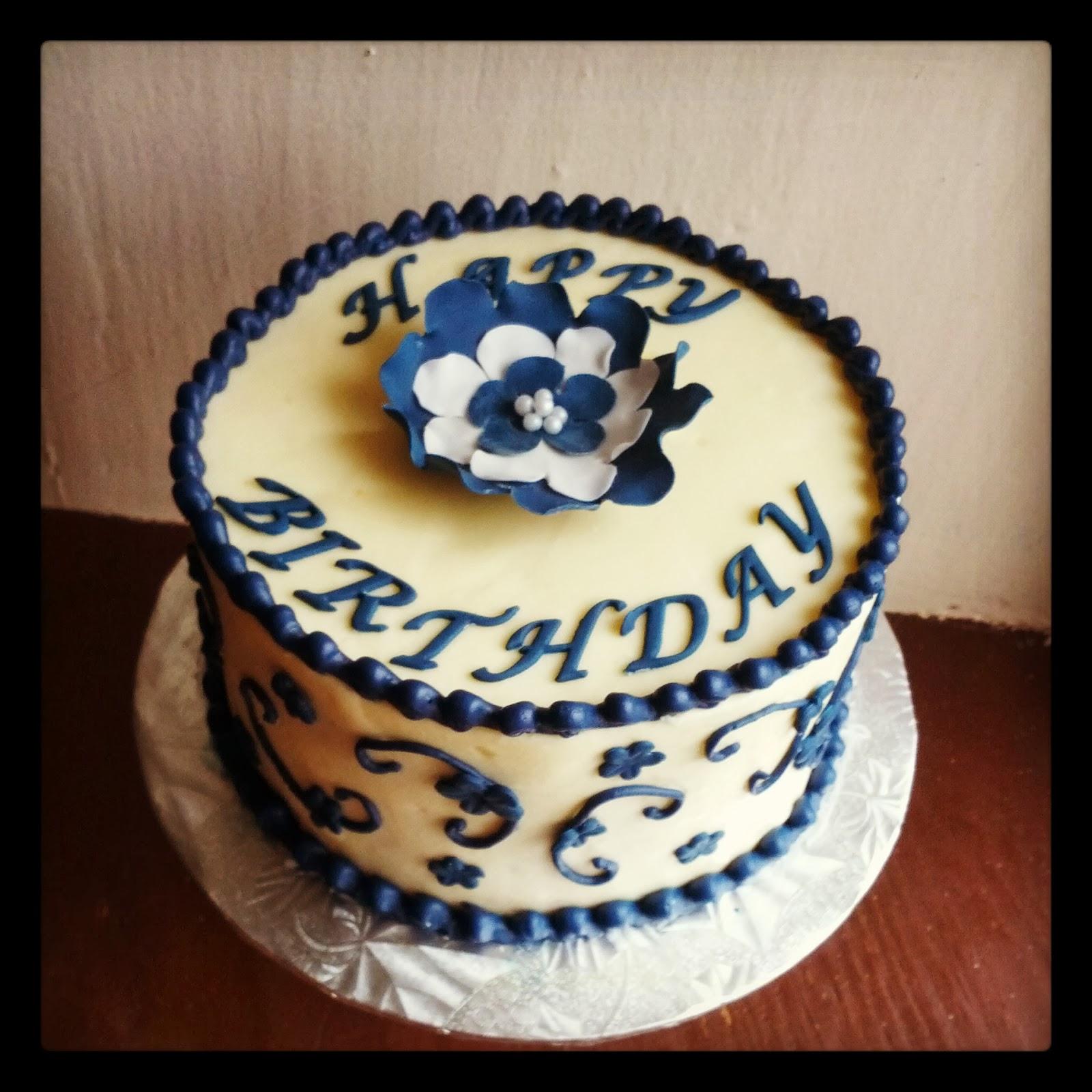Second Generation Cake Design: Blue Birthday Cake