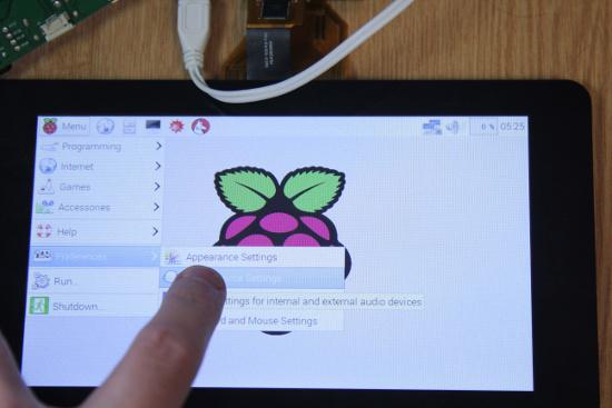touchscreen display raspberry pi