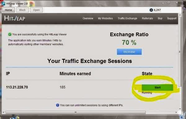 free traffic for your blog, get free traffic easy traffic, traffic exchange, hitleap