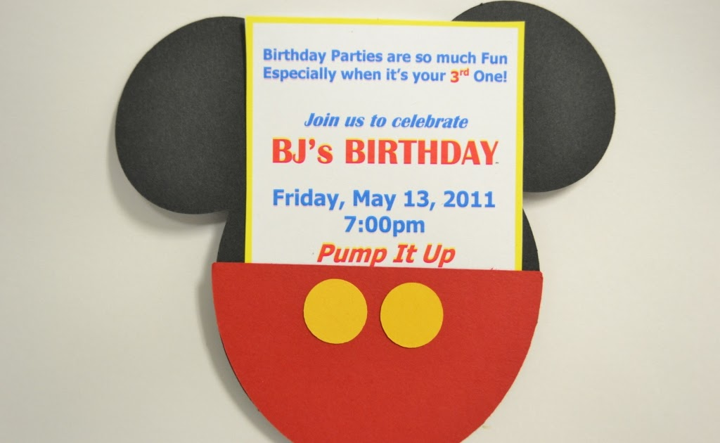 Mickey Mouse Birthday Invitations is best invitation template
