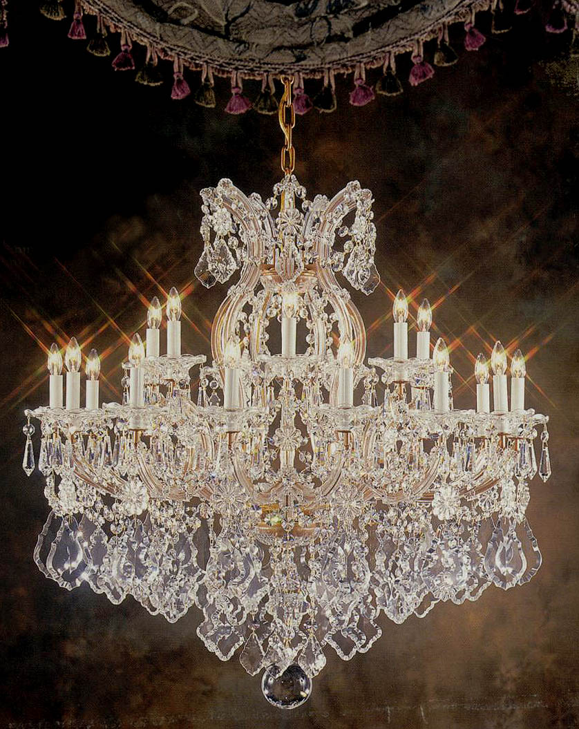 among crystal chandeliers murano and maria theresa stylesare highly