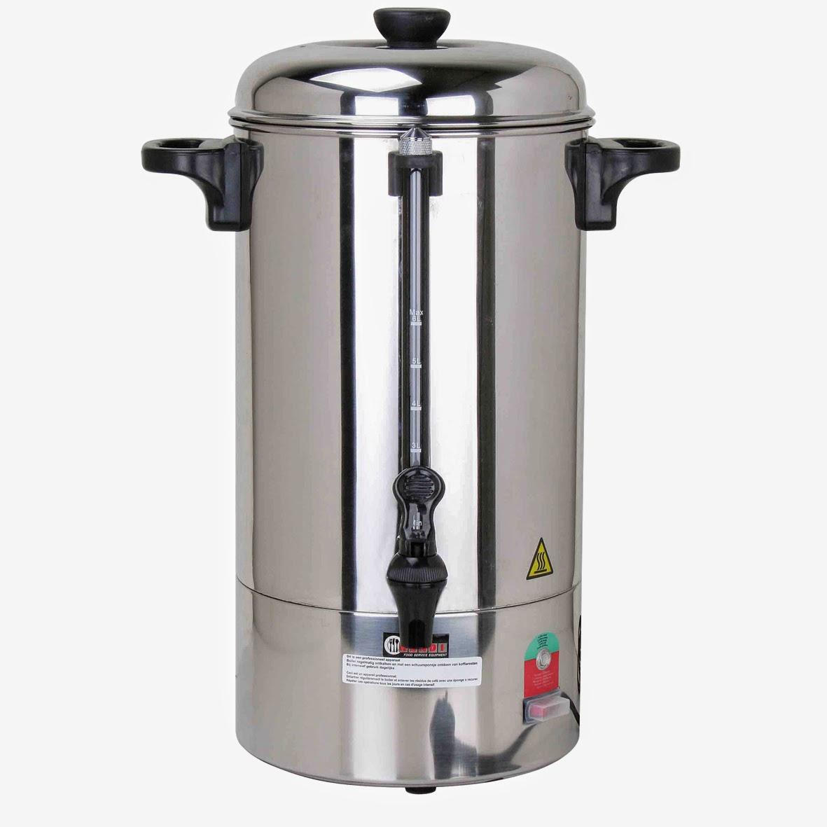 Filtru de Cafea Profesional Horeca, Percolator de 6 Litri din Inox, Capacitate Mare, Garantie si Service in Tara, Pret Redus de 699 RON cu TVA, www.amenajarihoreca.ro