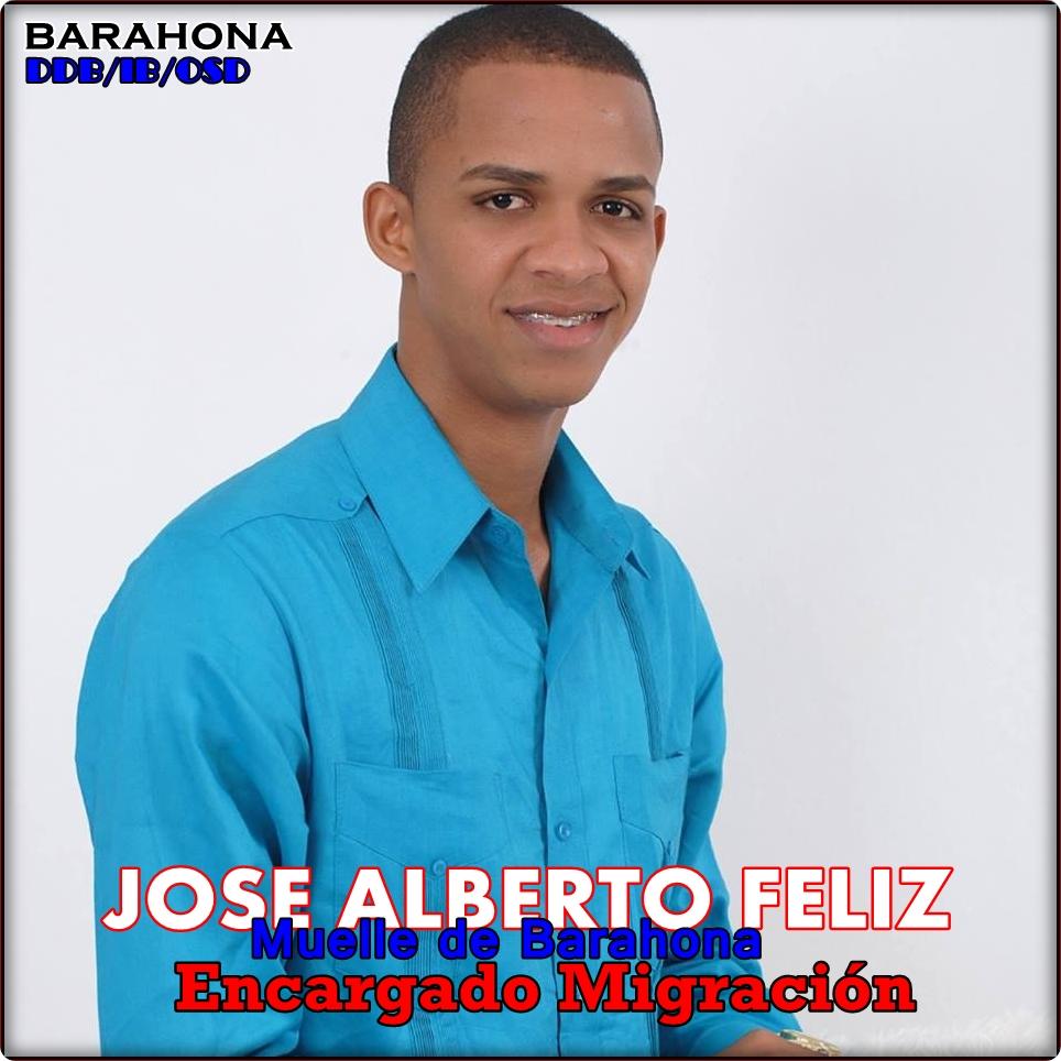 JOSE ALBERTO FELIZ, ENCARGADO MIGRACION MUELLE DE BARAHONA