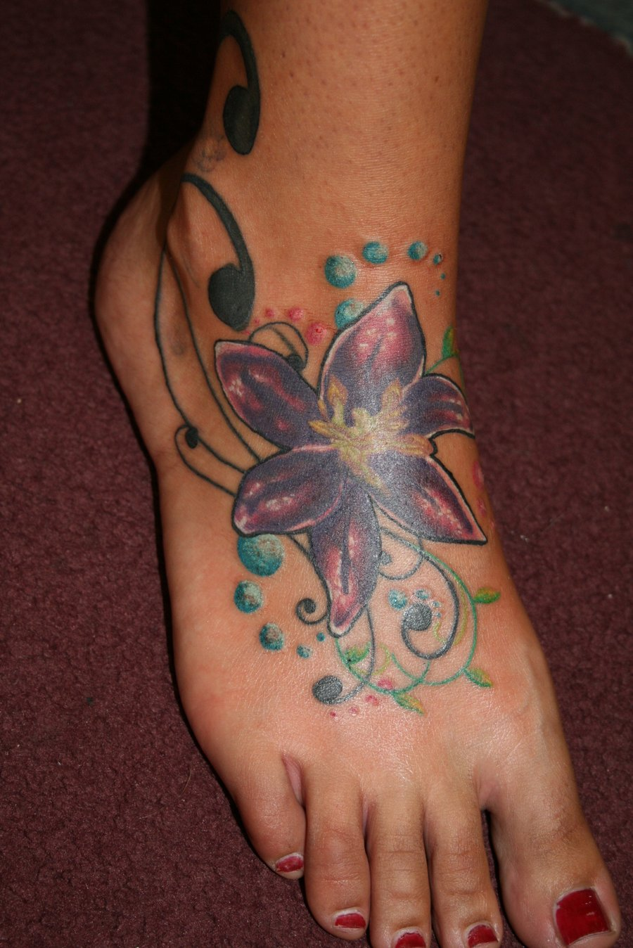 girls ankle tattoo designs world top fashions. Black Bedroom Furniture Sets. Home Design Ideas