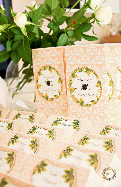 Brzoskwiniowe dodatki na wesele Artirea