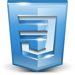 CSS3 Logo 3D Blue