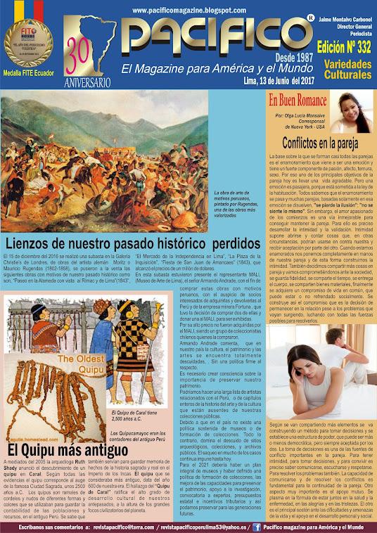 Revista Pacífico Nº 332 Variedades Culturales