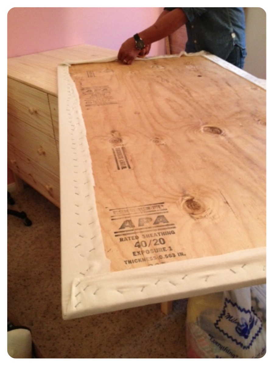 Now Turn Your Table Top Plywood Over And Secure To The Dressers Using L  Brackets Or Just Leave Unattached If You Want. My Plywood Is Pretty Heavy  So Unless ...