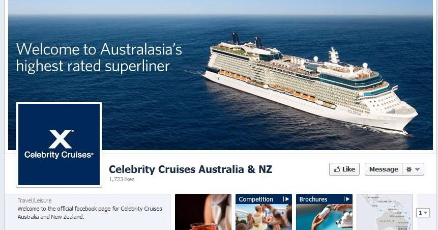 Celebrity Cruises Launches Australia And Nz Facebook Page